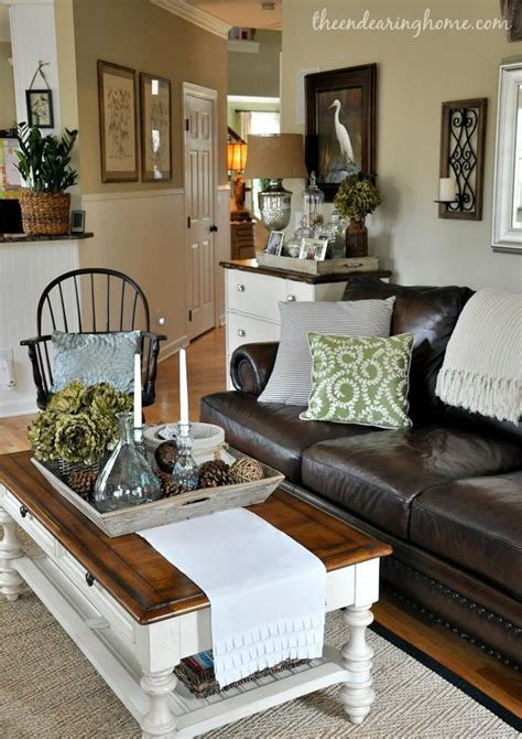 decorating with leather sofa best 25 coffee table runner ideas on pinterest coffee