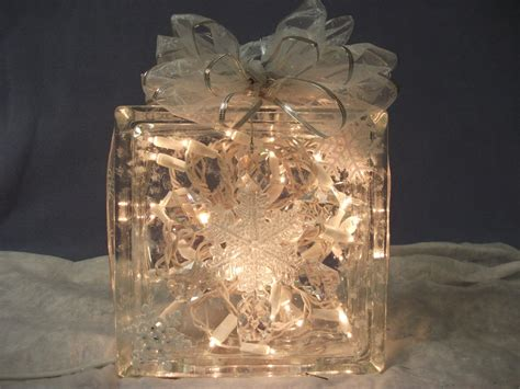 Lighted Glass Block decorative lighted glass block with clear lights