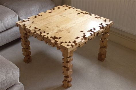 8 Bit Furniture by Coffee Table 8 Bit Pixel Solid Oak Furniture By Ryondesign