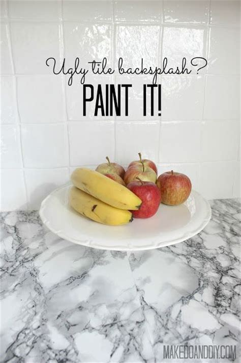 how to cover an ugly kitchen backsplash way back 25 best ideas about painted tiles on pinterest painting