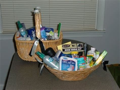 bathroom baskets for weddings idea