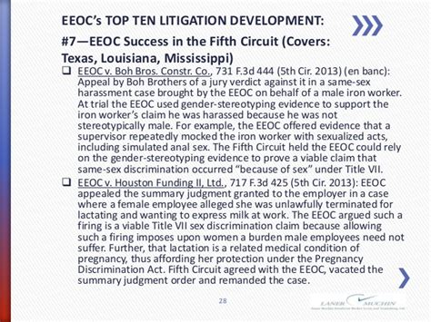 pattern jury instructions title vii eeoc fcra actual case stats