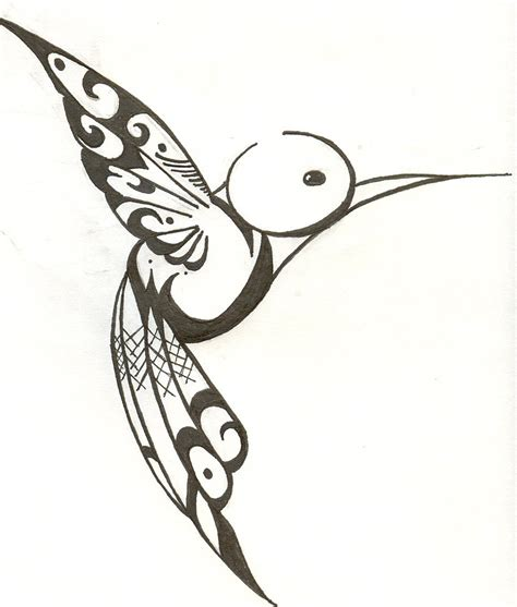 bird outline tattoos designs humming bird scan by hanaakari on deviantart