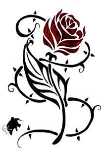rose tribal tattoo clipart best