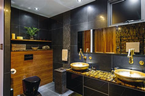 black gold bathroom black and gold luxury bathroom completehome
