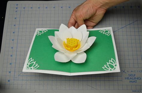 lotus flower pop up card template s day lotus flower pop up card tutorial creative