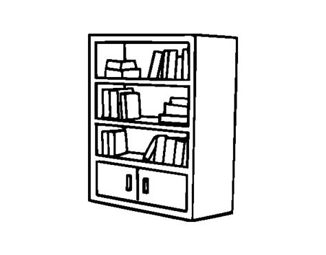 coloring pages bookshelves bookcase with drawers coloring page coloringcrew com