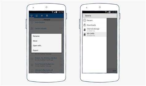 dropbox for android a new dropbox for android export files to your sd card
