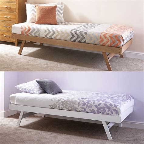 single day bed madrid wooden 3ft single day bed frame trundle guest