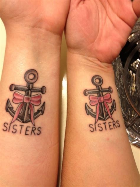 sister anchor tattoos anchors