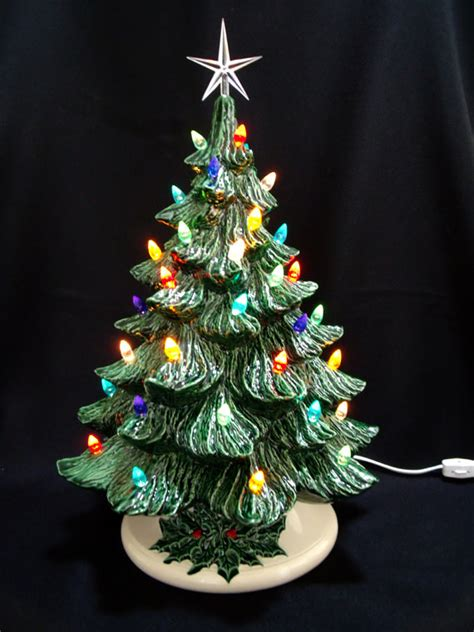 old fashioned ceramic christmas tree 19 in