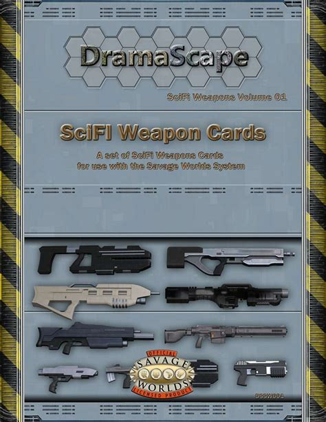 savage worlds scifi weapons cards dramascape scifi
