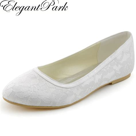 White Lace Flats For Wedding by Flats Ep11104 White Ivory Toe Lace Comfortable