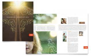 Free Church Brochure Templates christian church religious brochure template word publisher