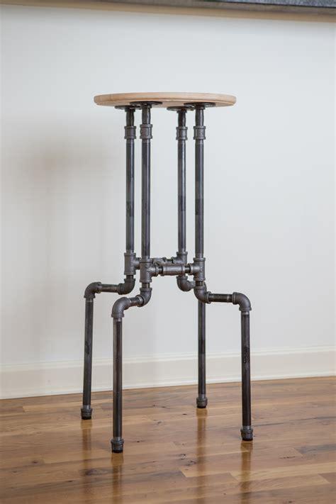 diy industrial bar stool yogabycandace