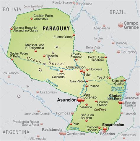imagenes satelitales paraguay mapa de paraguay vector de stock 169 artalis 40922113
