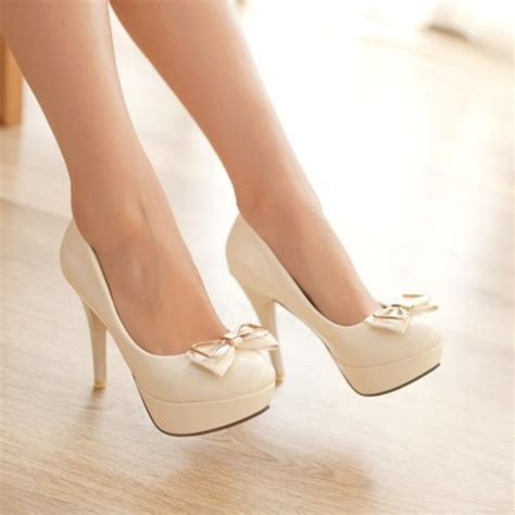 white high heels with bow shoes bow heels heel heels high heels high bow bows