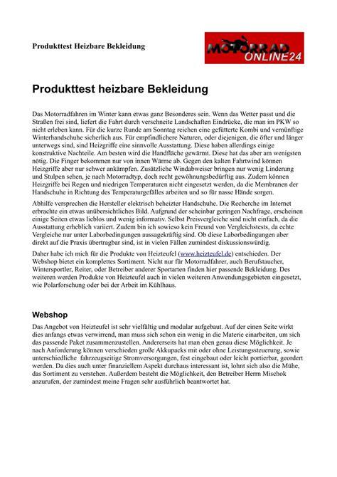 Motorradonline Handschuh Test by Heizteufel Motorrad Online24