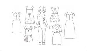 template for paper dolls paper dolls free premium templates