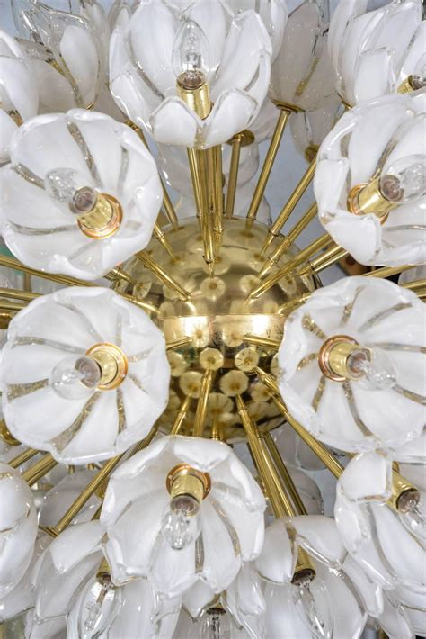 White Flower Chandelier Chandelier With White Flowers At 1stdibs