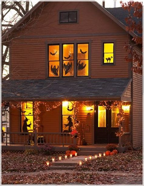 halloween home decorating ideas terrace halloween decor with jack o lantern details and spooky lighting ideas also graveyard