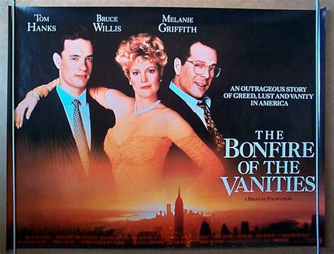 bonfire of the vanities original cinema poster