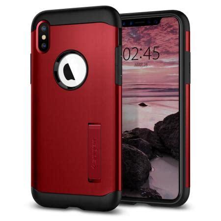 spigen slim armor iphone xs max tough case red
