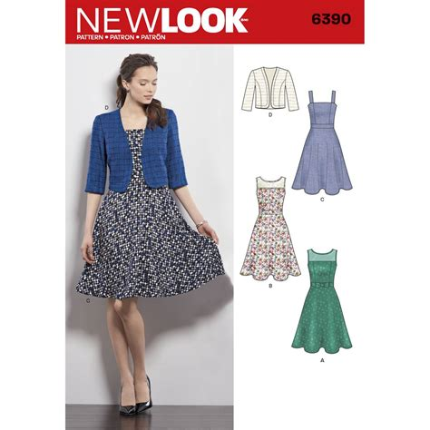 clothes pattern uk new look women s dress sewing pattern 6390 hobbycraft