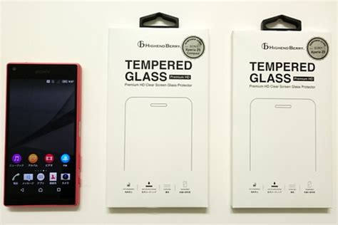 Tempered Glass Sony Xperia A4 Z4 Compact Docomo 画面に自然に貼り付く日本製強化ガラス画面保護シート tempered glass の xperia z5 および