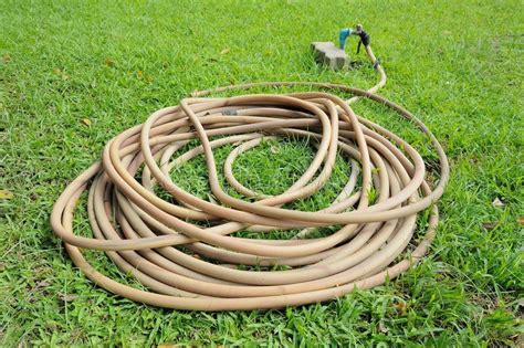 garden hose stock image image  clean rubber water