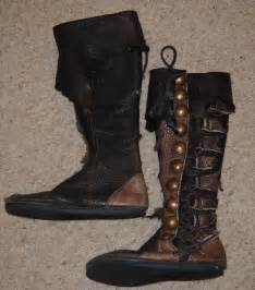 s brown pirate renaissance leather boots handmade