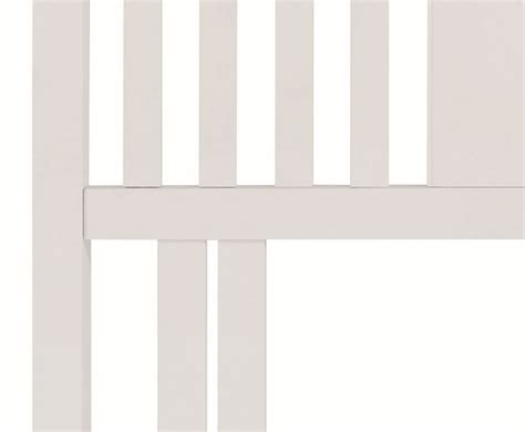 White Wooden Slatted Headboard by Hstead White Slatted Headboard Just Headboards