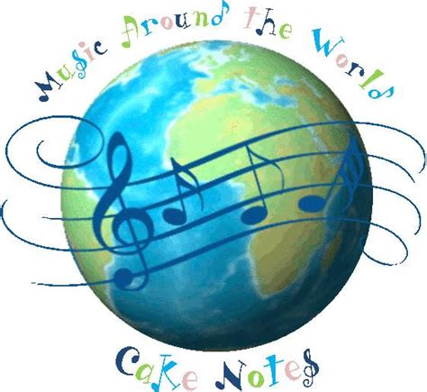 Global Decor Styles music around the world cake notes 4 happy