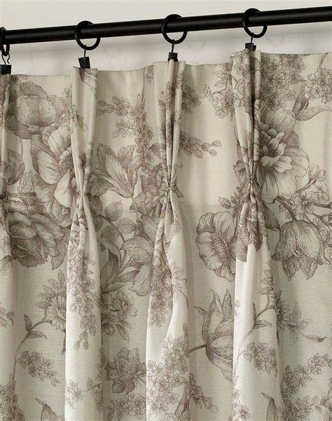 hton toile pinch pleat window curtain panel mocha