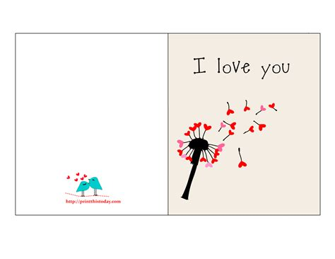 Love Cards For Her Printable free printable cards for him