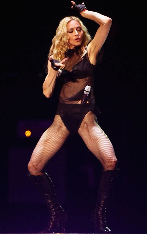 madonna body madonna killer thighs debut sticky and sweet tour in