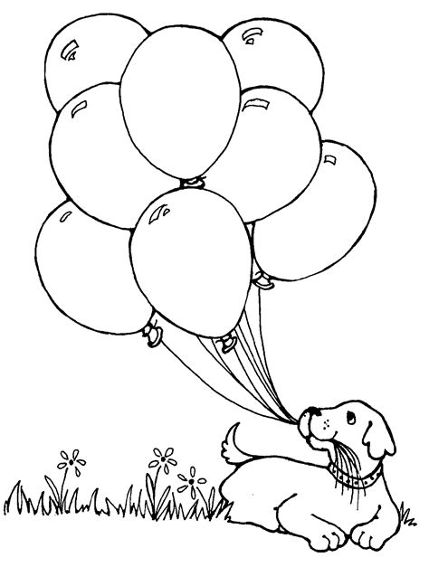 Black And White Balloon Coloring Pages Sketch Page sketch template
