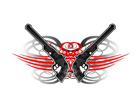 tribal gun tattoo gun tribal designs www pixshark images