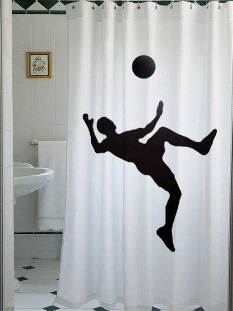 soccer bathroom decor soccer shower curtain football bathroom from lauriecurtain on