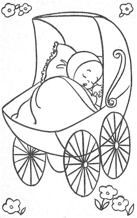 coloring pages baby carriage 583 best coloring books vintage 1 images on pinterest