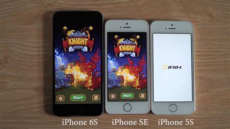 so tốc độ mở app giữa iphone 6s iphone se iphone 5s