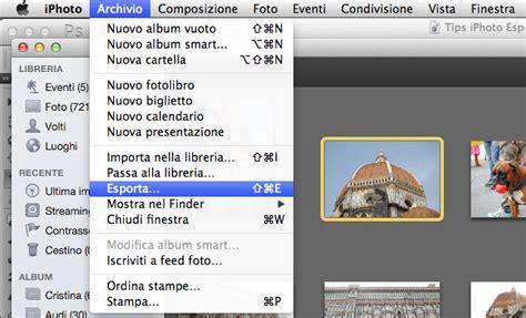 esportare libreria iphoto tips usare al meglio la funzione esporta di iphoto