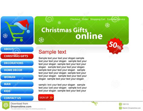 website christmas shopping royalty free stock photos