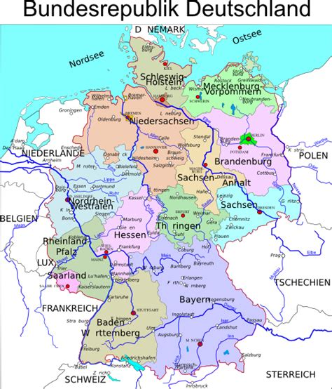 political map germany political map of germany clip at clker vector