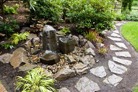 Water Feature Rock Features In Gardens