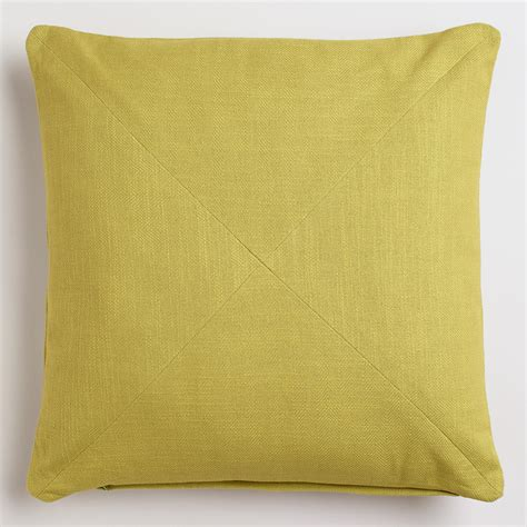 Oasis Pillow by Oasis Green Cotton Herringbone Throw Pillow World Market