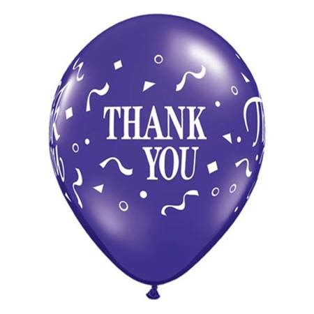 Thank You Letter Balloons confetti thank you balloons m n store