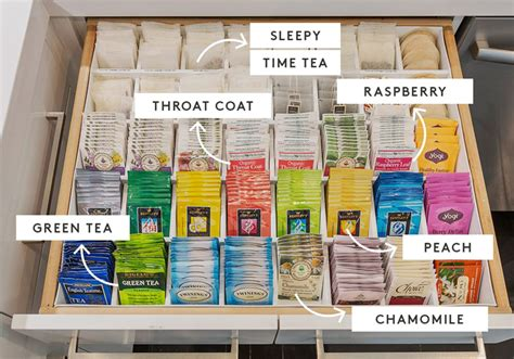 tea organization khlo 233 kardashian s tea drawer is crazy in the best way