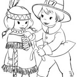coloring pages printable thanksgiving indian coloring