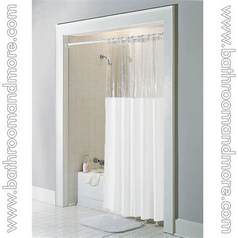 shower curtain clear top white vinyl windowed shower curtain liner clear top
